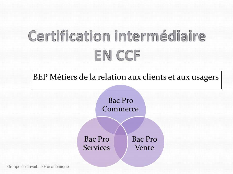 Certification intermédiaire EN CCF