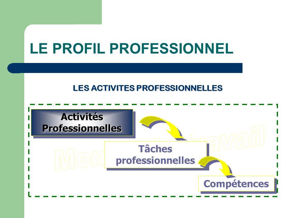 LES ACTIVITES PROFESSIONNELLES