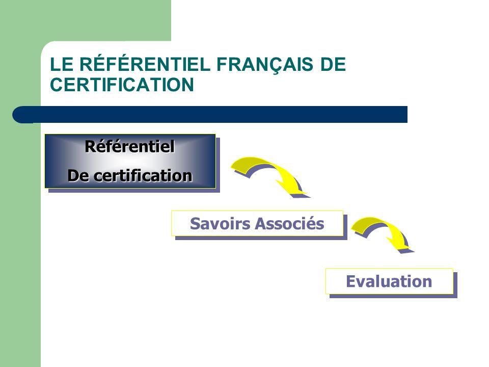 LE RÉFÉRENTIEL FRANÇAIS DE CERTIFICATION
