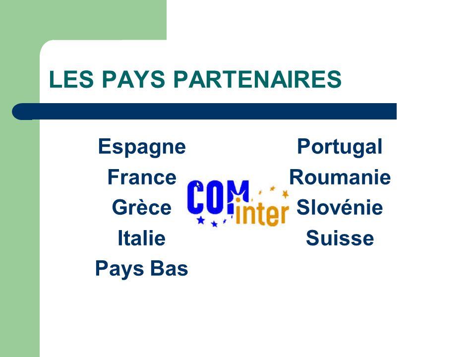 LES PAYS PARTENAIRES Espagne France Grèce Italie Pays Bas Portugal