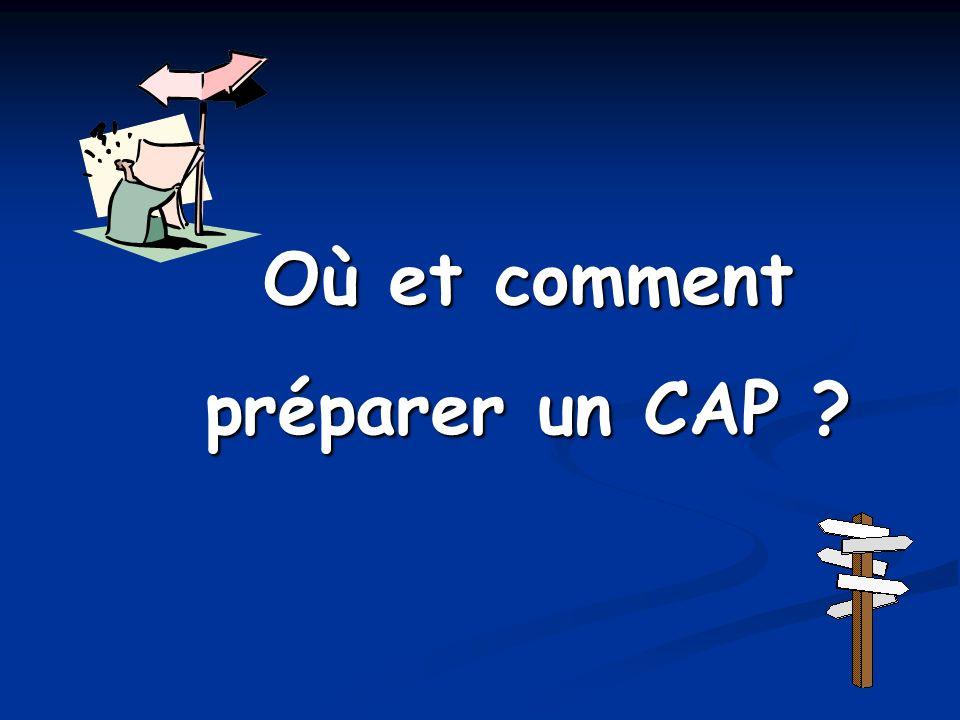 Où et comment préparer un CAP