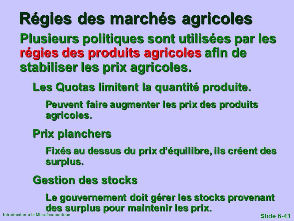 Régies des marchés agricoles