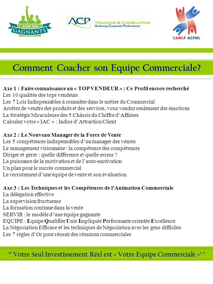 Comment Coacher son Equipe Commerciale