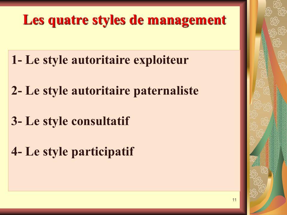 Les quatre styles de management