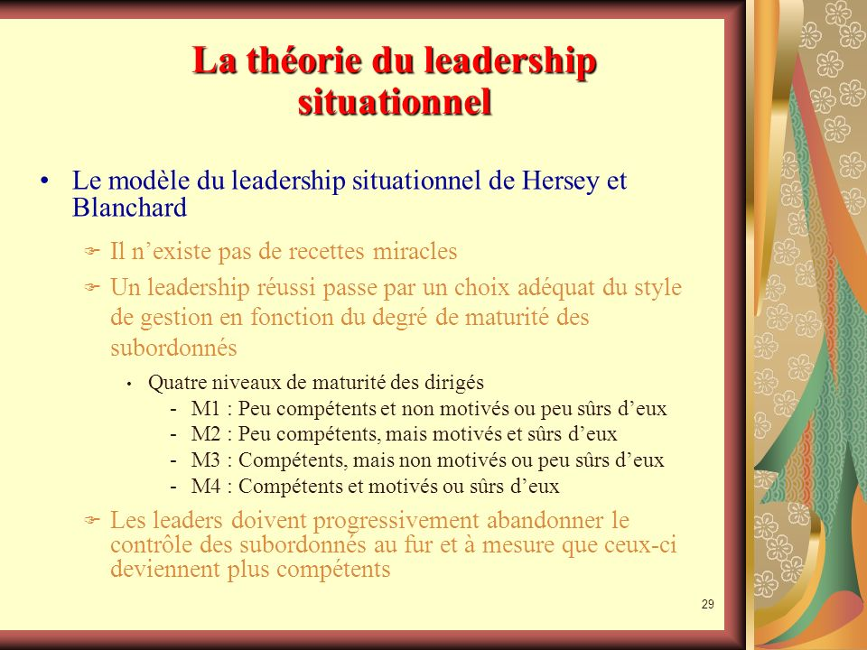La théorie du leadership situationnel