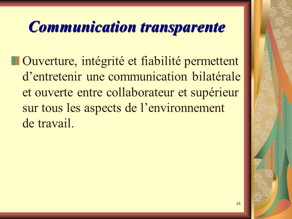 Communication transparente