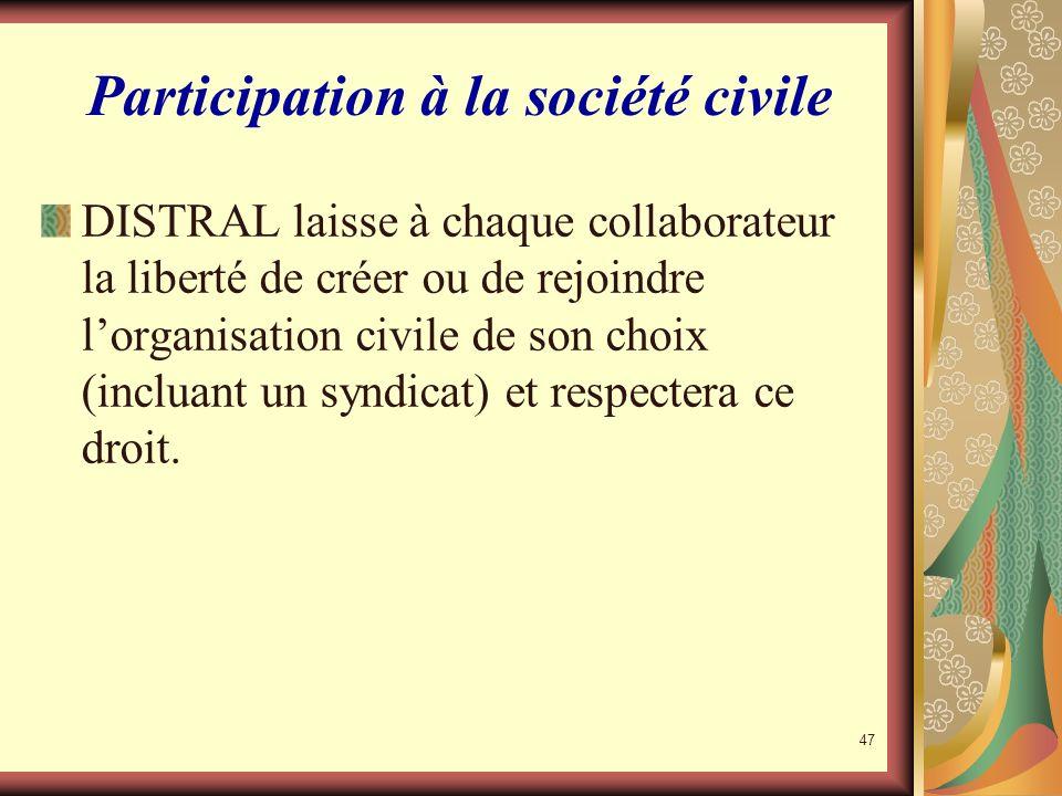Participation à la société civile