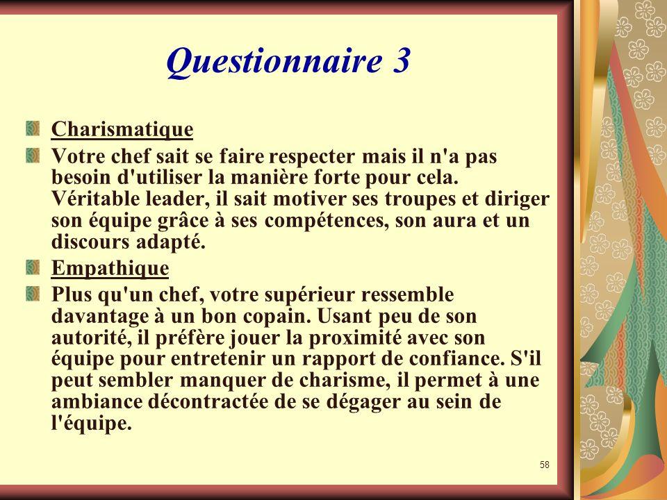 Questionnaire 3 Charismatique