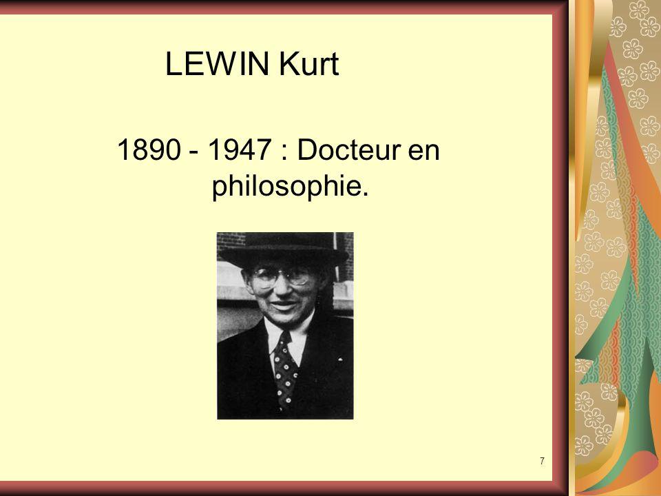1890 - 1947 : Docteur en philosophie.