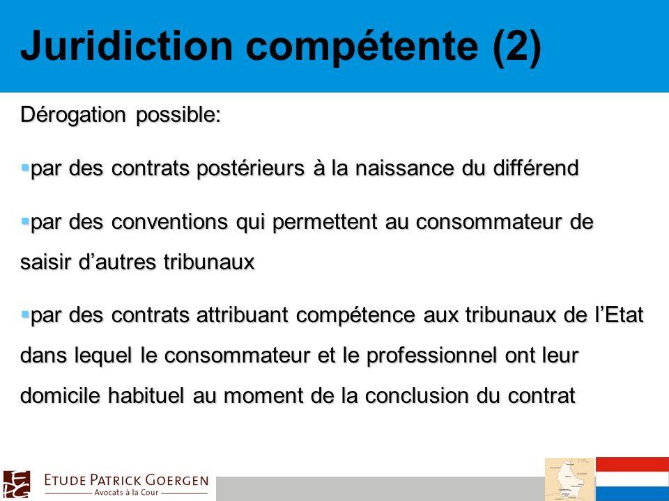 Juridiction compétente (2)