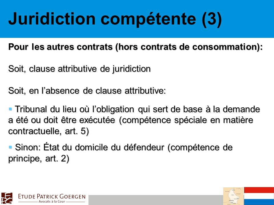 Juridiction compétente (3)