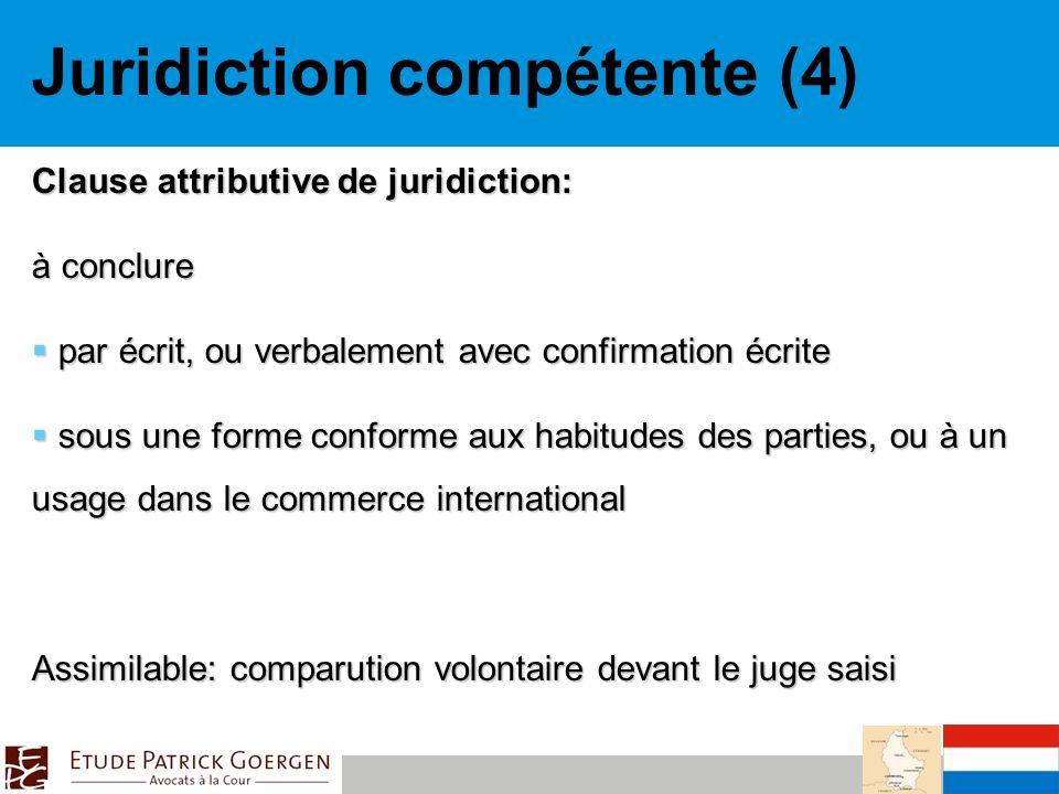 Juridiction compétente (4)