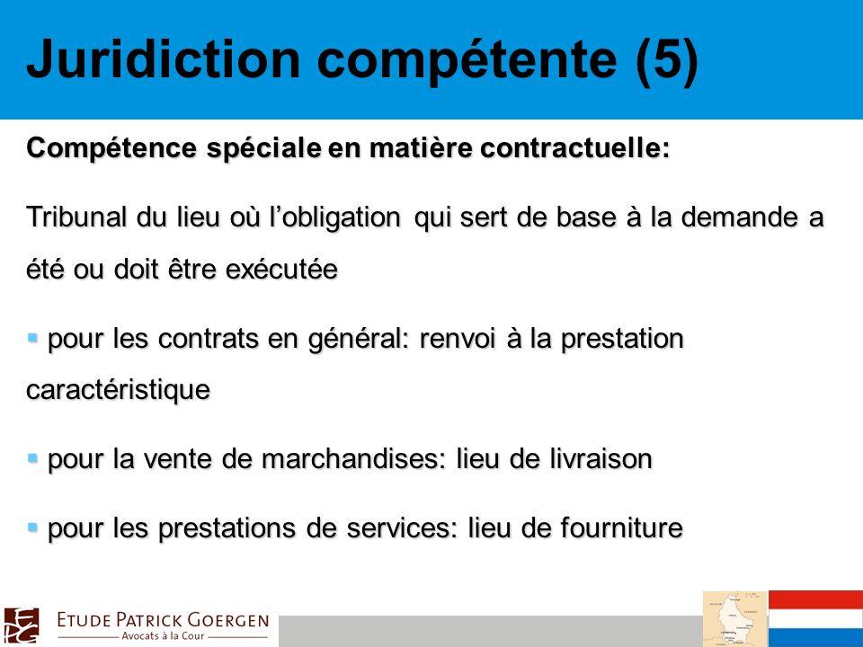 Juridiction compétente (5)