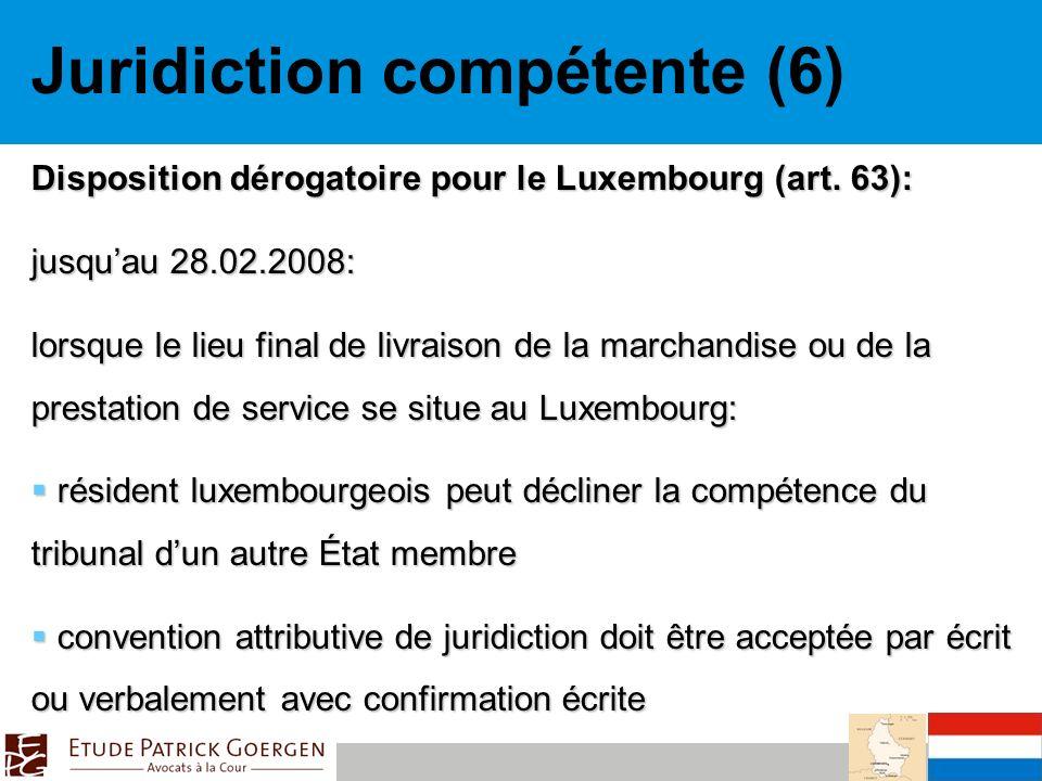 Juridiction compétente (6)