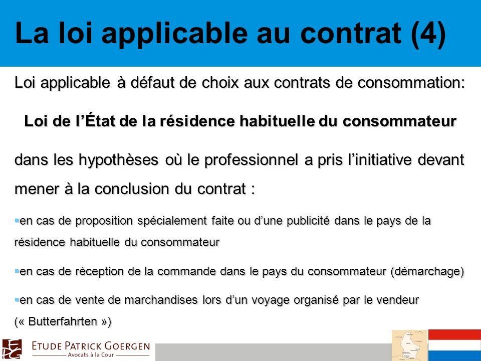 Loi de l'État de la résidence habituelle du consommateur