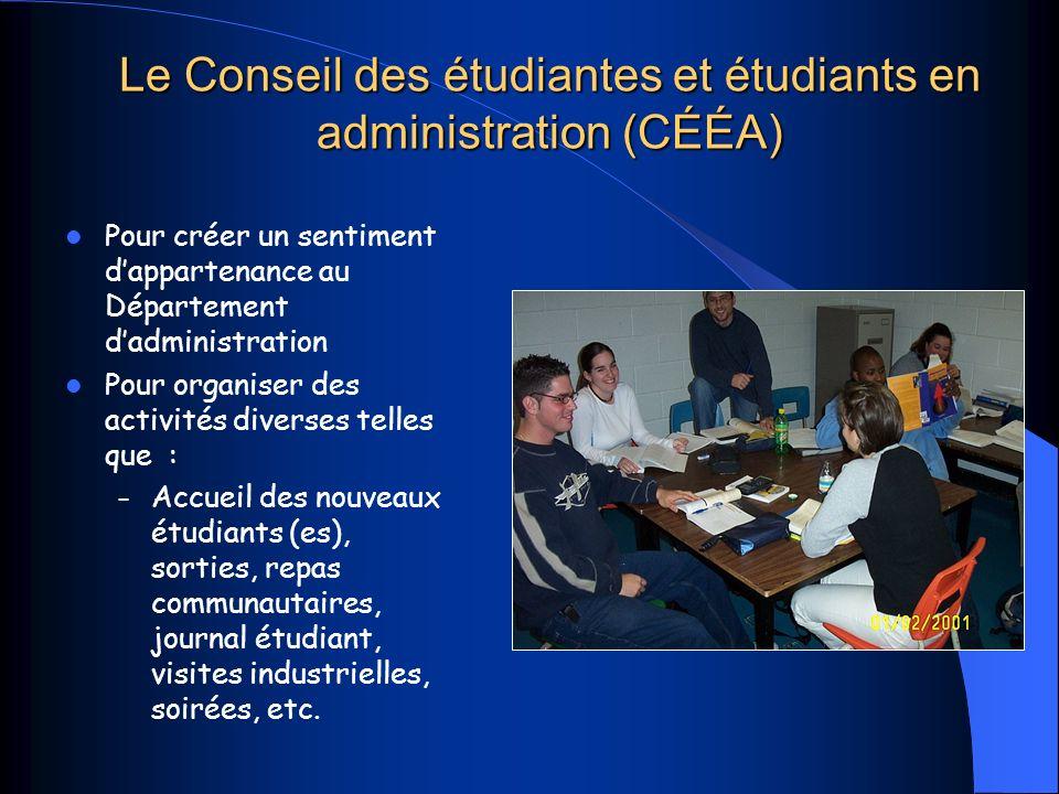 Le Conseil des étudiantes et étudiants en administration (CÉÉA)
