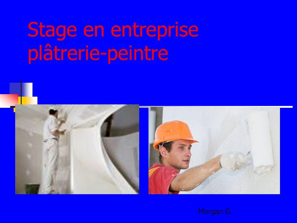 Stage en entreprise plâtrerie-peintre