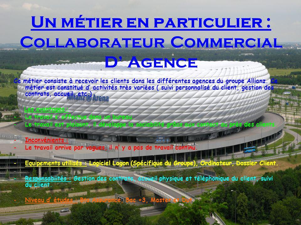 Un métier en particulier : Collaborateur Commercial D' Agence
