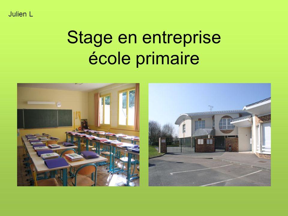 Stage en entreprise école primaire