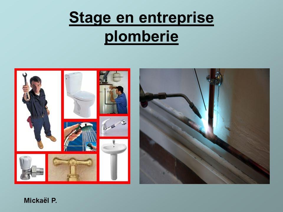 Stage en entreprise plomberie