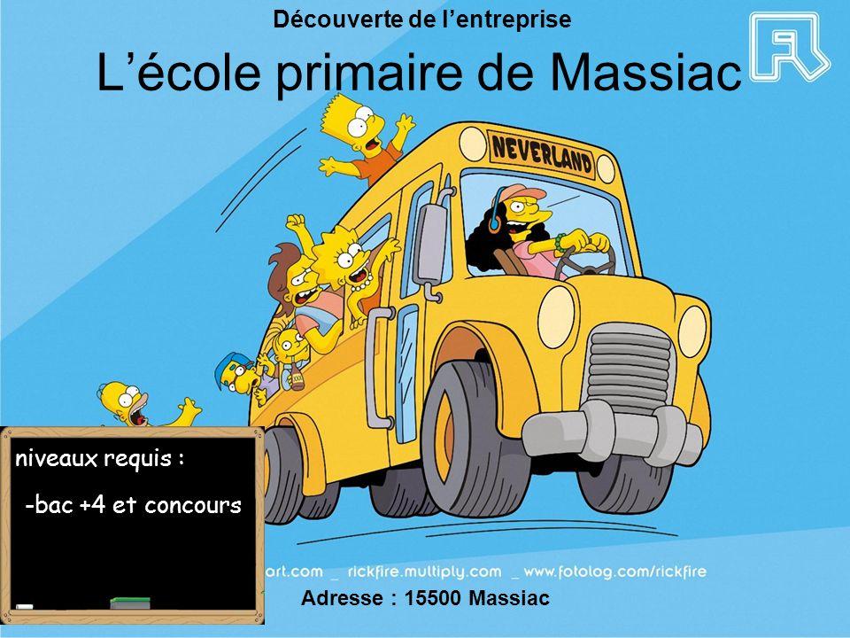 L'école primaire de Massiac