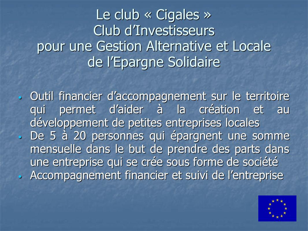 Le club « Cigales » Club d'Investisseurs pour une Gestion Alternative et Locale de l'Epargne Solidaire