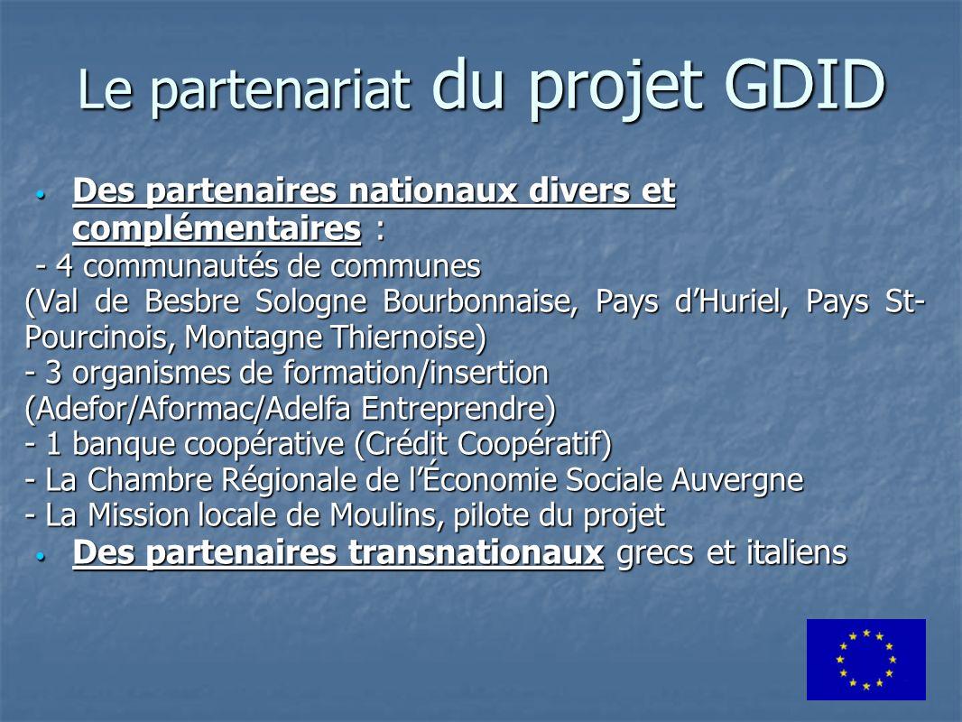 Le partenariat du projet GDID