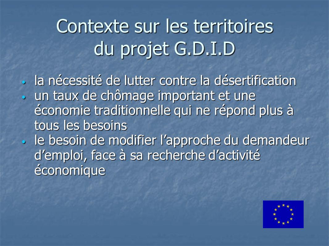 Contexte sur les territoires du projet G.D.I.D