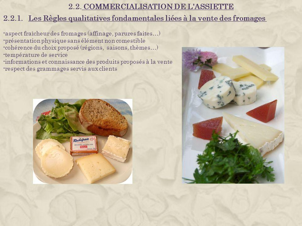 2.2. COMMERCIALISATION DE L ASSIETTE