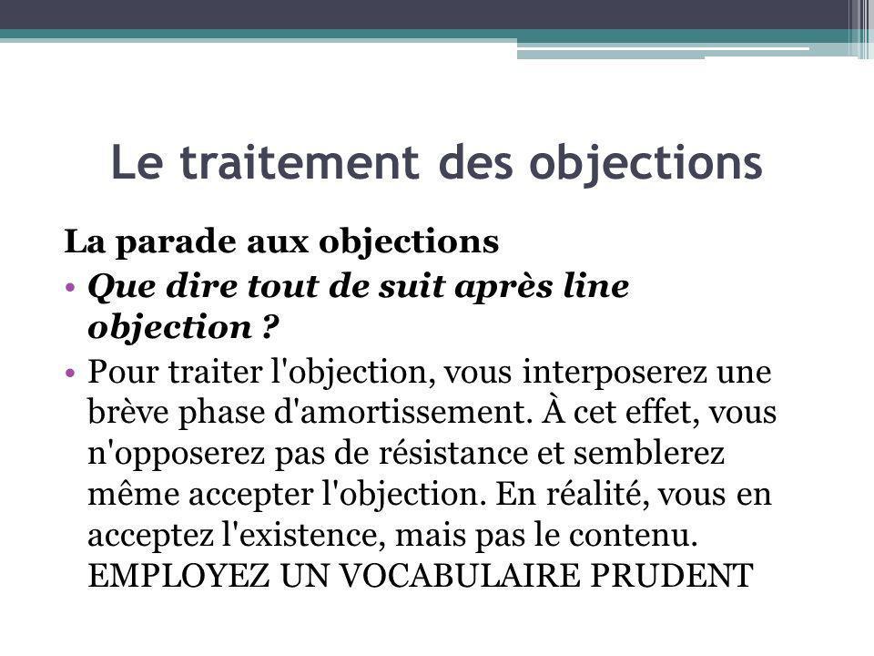 Le traitement des objections