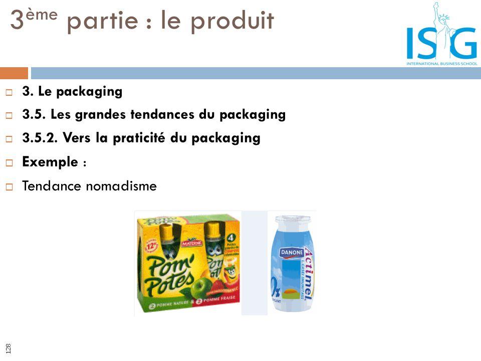 3ème partie : le produit Exemple : Tendance nomadisme 3. Le packaging