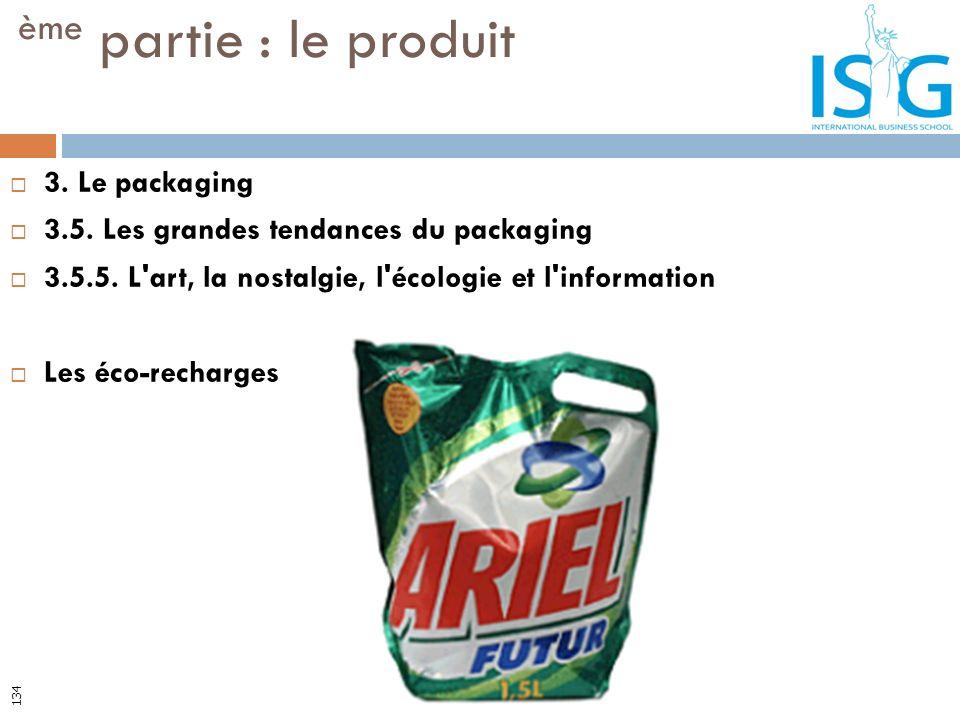 ème partie : le produit 3. Le packaging
