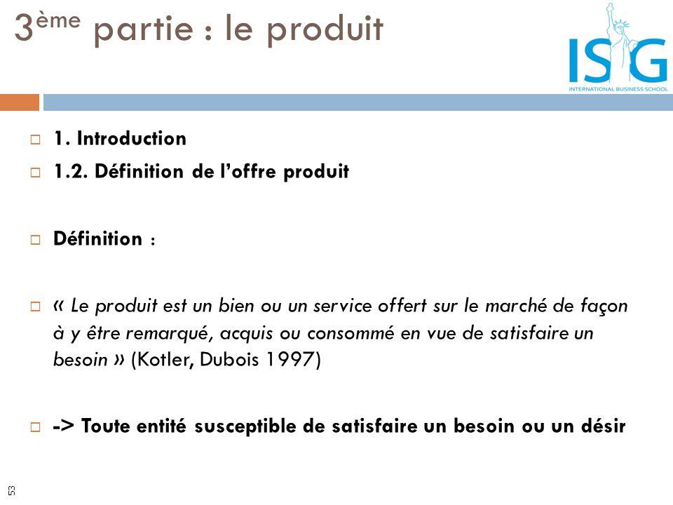 3ème partie : le produit 1. Introduction