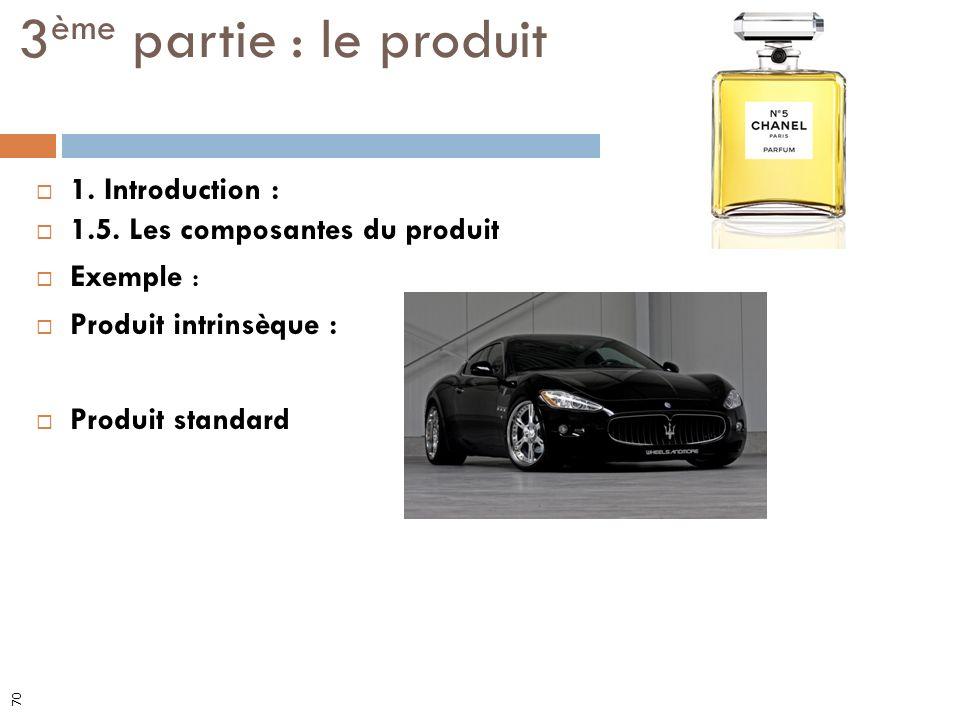 3ème partie : le produit 1. Introduction :