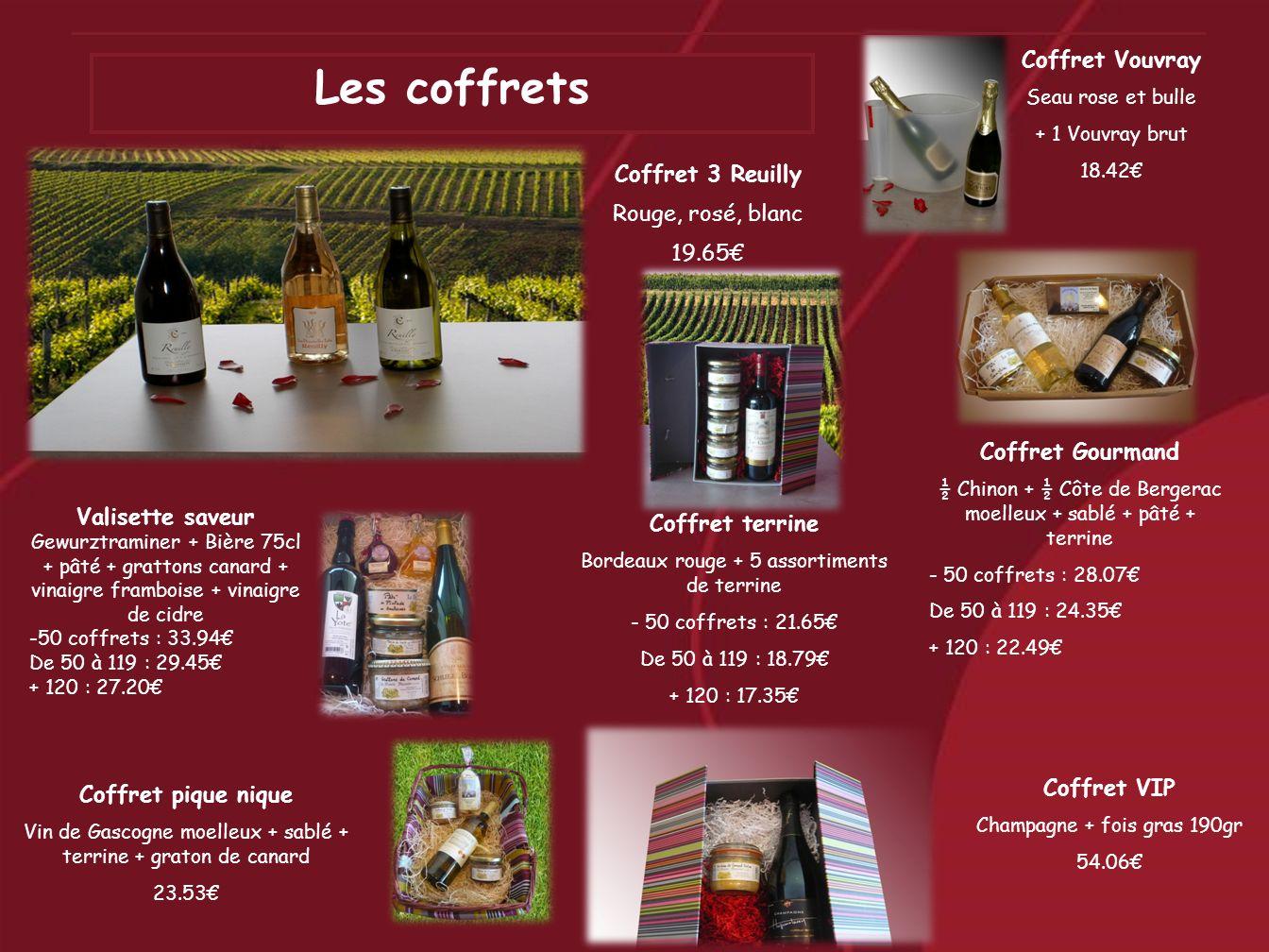 Les coffrets Coffret Vouvray Coffret 3 Reuilly Rouge, rosé, blanc