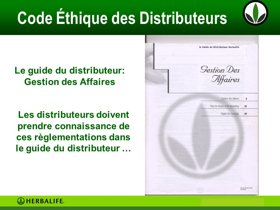 Le guide du distributeur: Gestion des Affaires