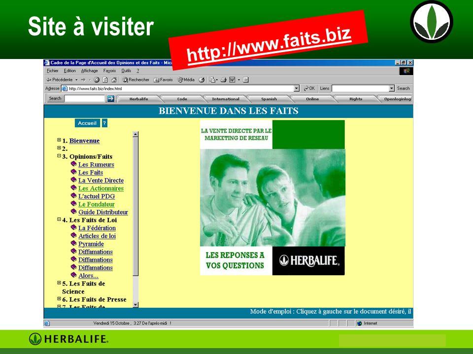 Site à visiter http://www.faits.biz Bienvenue