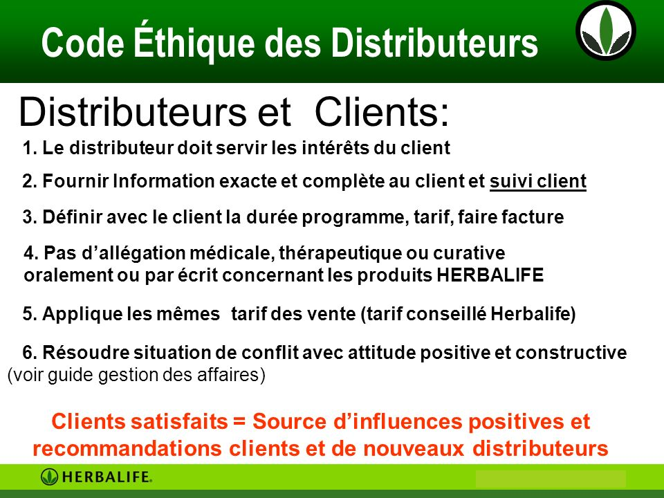 Distributeurs et Clients: