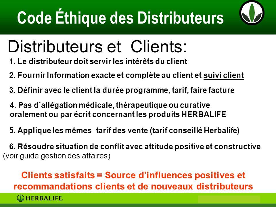 Distributeurs et Clients: