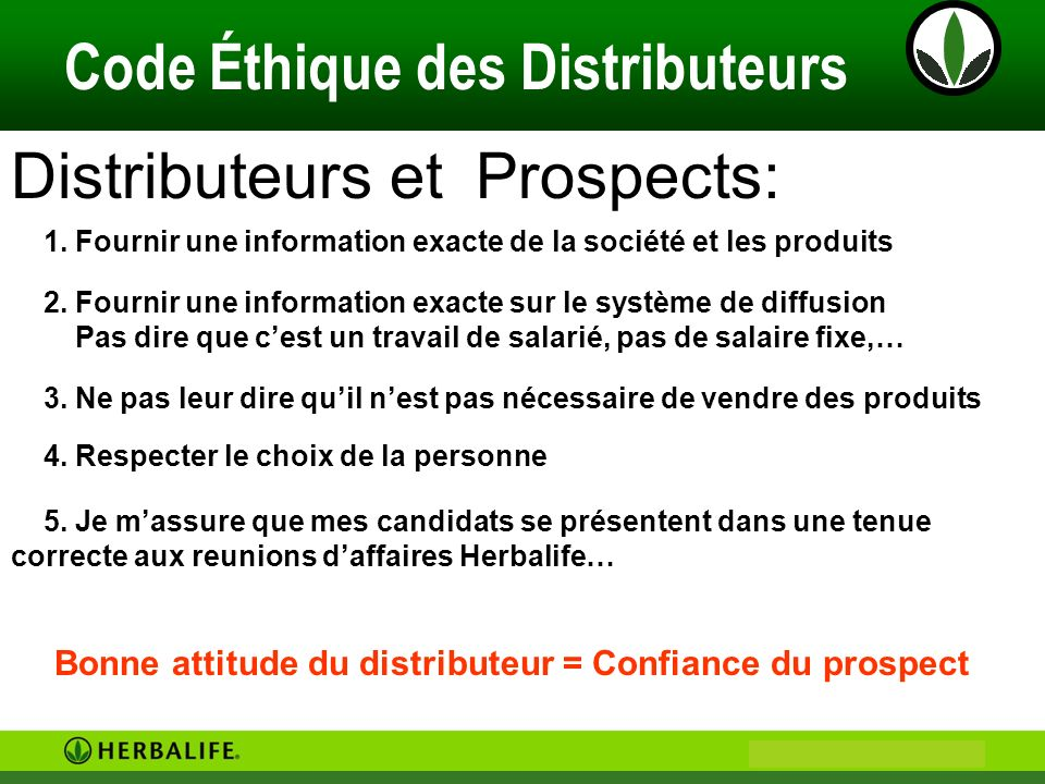 Distributeurs et Prospects: