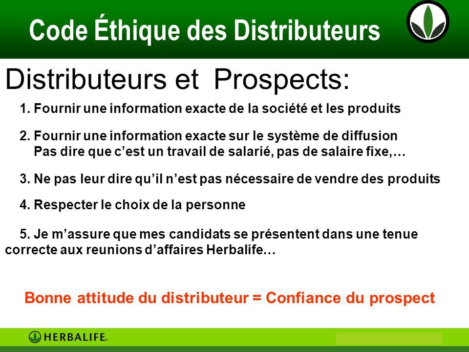 Distributeurs et Prospects: