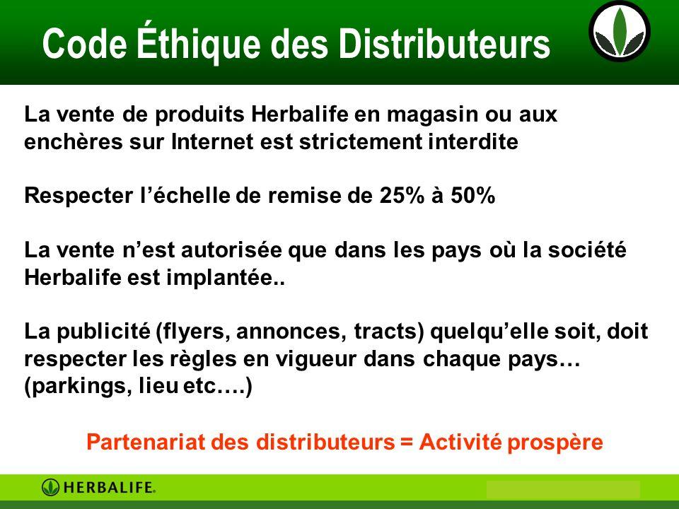 Code Éthique des Distributeurs