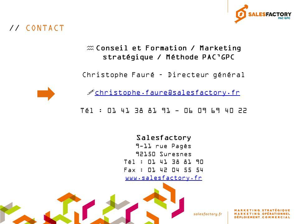 Conseil et Formation / Marketing stratégique / Méthode PAC'GPC