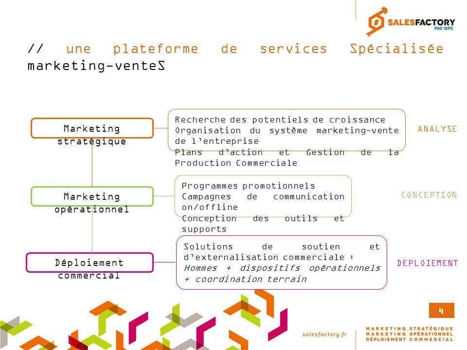 // une plateforme de services Spécialisée marketing-venteS