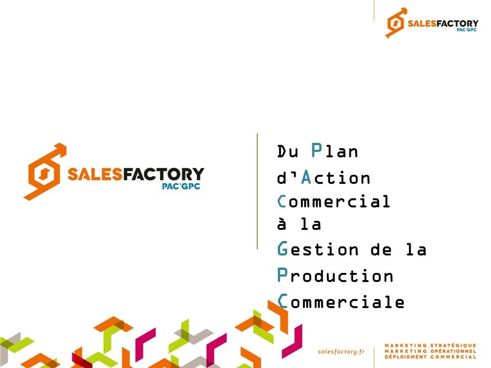 Gestion de la Production Commerciale