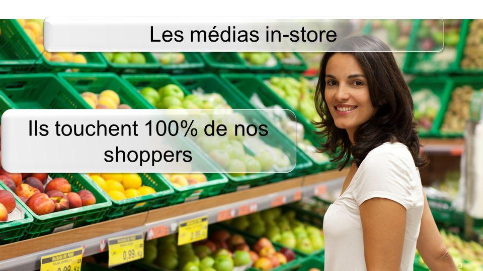 Ils touchent 100% de nos shoppers
