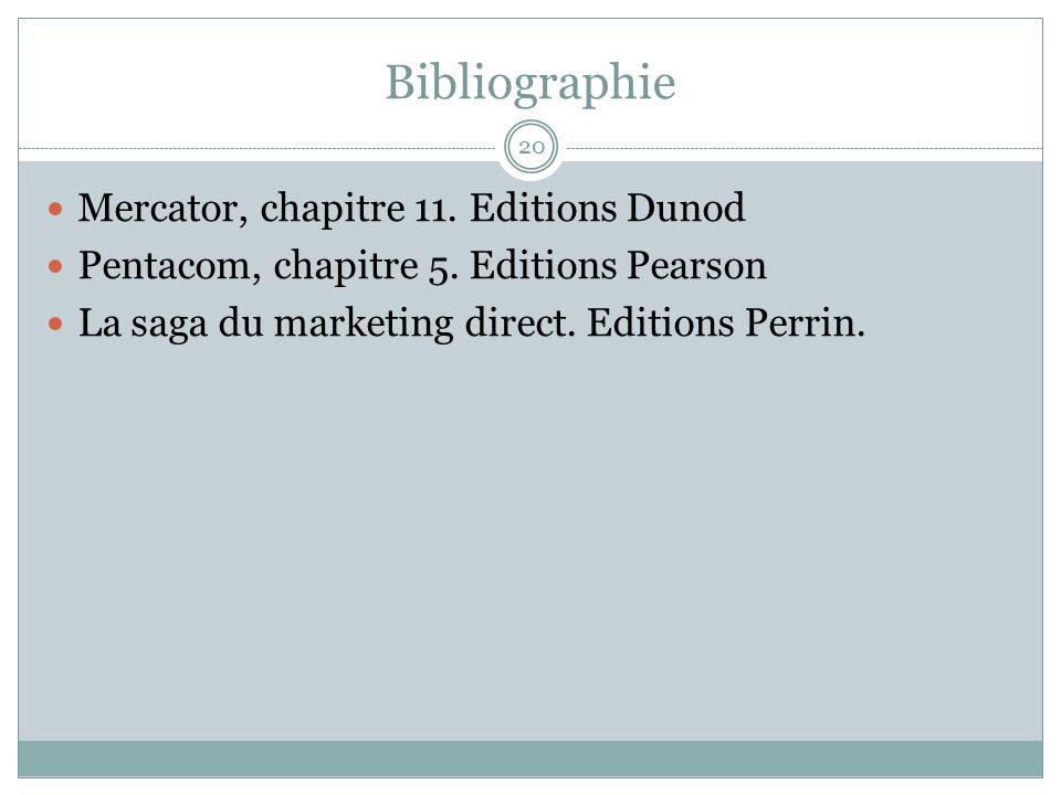 Bibliographie Mercator, chapitre 11. Editions Dunod
