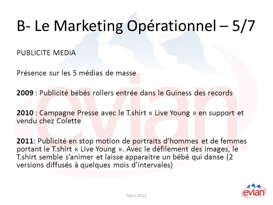 B- Le Marketing Opérationnel – 5/7
