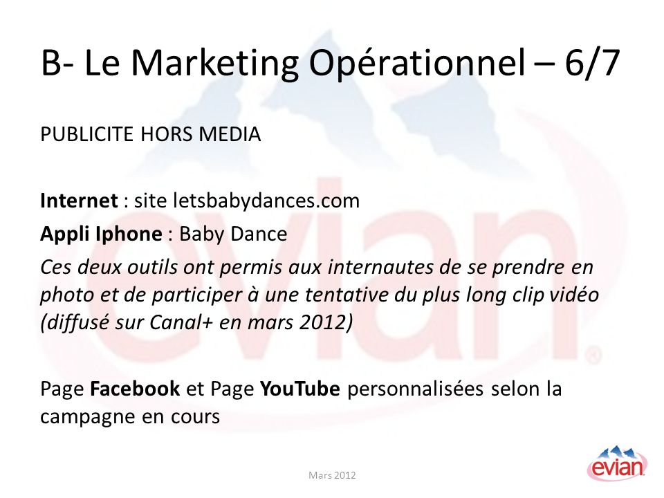 B- Le Marketing Opérationnel – 6/7