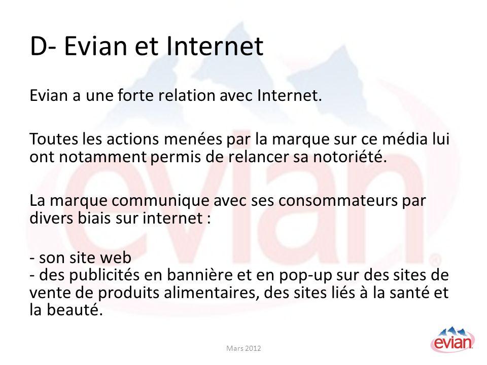 D- Evian et Internet